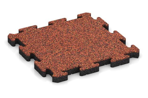 Hundematte von WARCO im Farbdesign Feuersglut mit den Abmessungen 500 x 500 x 40 mm. Produktfoto von Artikel 4007 in der Aufsicht von schräg vorne.