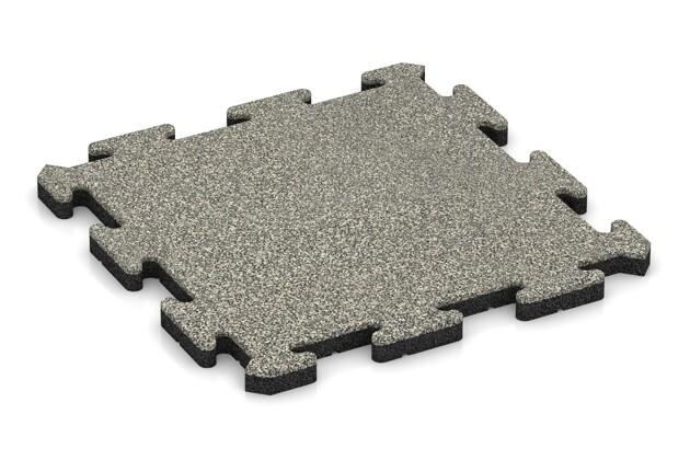 Terrassenplatte von WARCO im Farbdesign Heller Granit mit den Abmessungen 500 x 500 x 30 mm. Produktfoto von Artikel 2620 in der Aufsicht von schräg vorne.