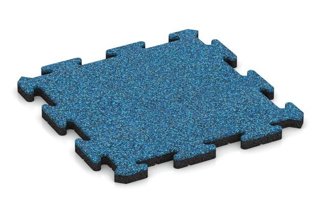 Terrassenplatte von WARCO im Farbdesign Atlantik mit den Abmessungen 500 x 500 x 30 mm. Produktfoto von Artikel 2626 in der Aufsicht von schräg vorne.