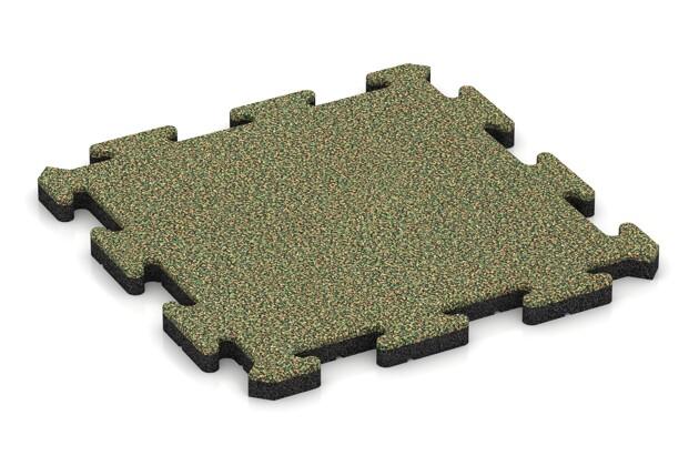 Gehwegplatte von WARCO im Farbdesign Savanne mit den Abmessungen 500 x 500 x 30 mm. Produktfoto von Artikel 2667 in der Aufsicht von schräg vorne.