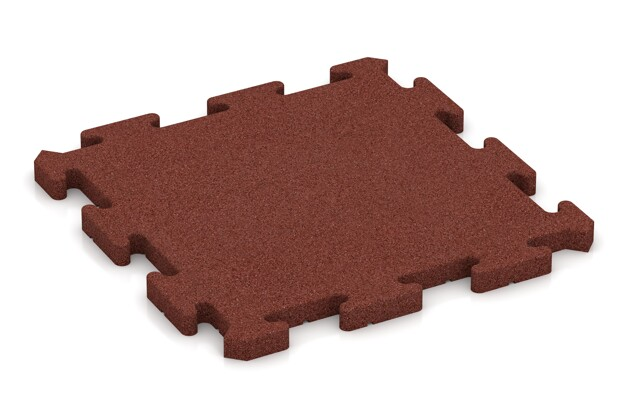 Hunde-Sportboden pro von WARCO im Farbdesign ziegelrot mit den Abmessungen 500 x 500 x 30 mm. Produktfoto von Artikel 2804 in der Aufsicht von schräg vorne.