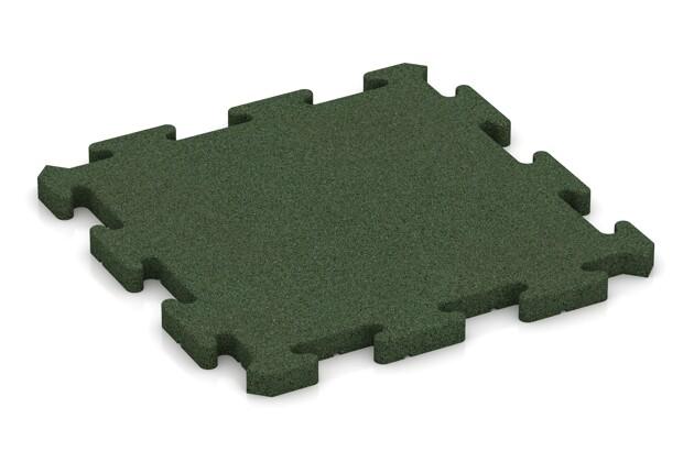 Fitness-Bodenschutzmatte von WARCO im Farbdesign grasgrün mit den Abmessungen 500 x 500 x 30 mm. Produktfoto von Artikel 2823 in der Aufsicht von schräg vorne.