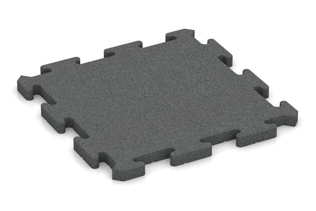 Fitness-Bodenschutzmatte von WARCO im Farbdesign schiefergrau mit den Abmessungen 500 x 500 x 30 mm. Produktfoto von Artikel 2824 in der Aufsicht von schräg vorne.