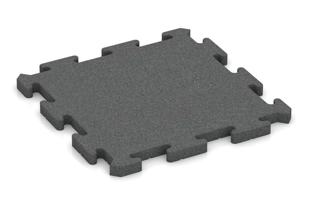 Hunde-Sportboden pro von WARCO im Farbdesign schiefergrau mit den Abmessungen 500 x 500 x 30 mm. Produktfoto von Artikel 2806 in der Aufsicht von schräg vorne.