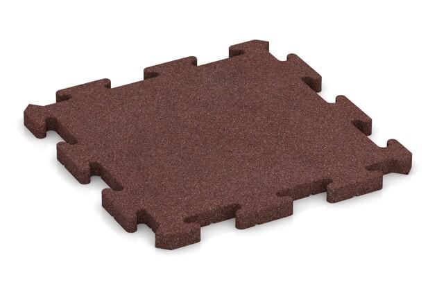Fitness-Bodenschutzmatte pro von WARCO im Farbdesign schokobraun mit den Abmessungen 500 x 500 x 30 mm. Produktfoto von Artikel 2831 in der Aufsicht von schräg vorne.