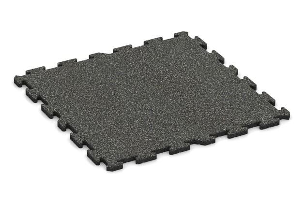 Schwimmbadfliese von WARCO im Farbdesign Dunkelgrauer Granit mit den Abmessungen 1000 x 1000 x 30 mm. Produktfoto von Artikel 3296 in der Aufsicht von schräg vorne.