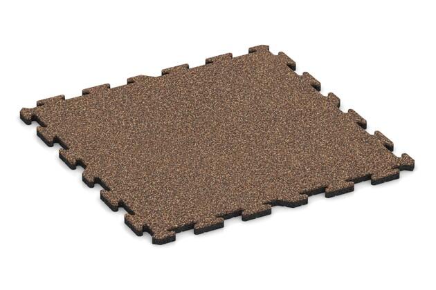 Spiel-Bodenbelag von WARCO im Farbdesign Bast & Borke mit den Abmessungen 1000 x 1000 x 30 mm. Produktfoto von Artikel 3217 in der Aufsicht von schräg vorne.