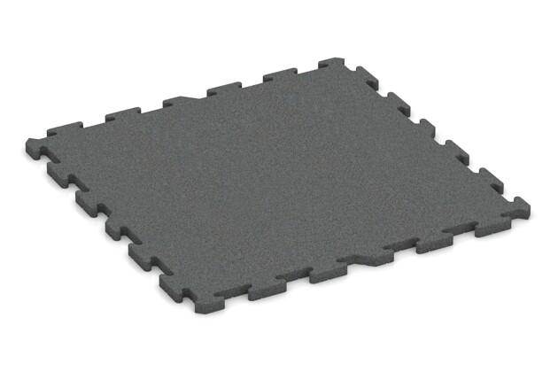 Spiel-Bodenbelag von WARCO im Farbdesign schiefergrau mit den Abmessungen 1000 x 1000 x 30 mm. Produktfoto von Artikel 3327 in der Aufsicht von schräg vorne.