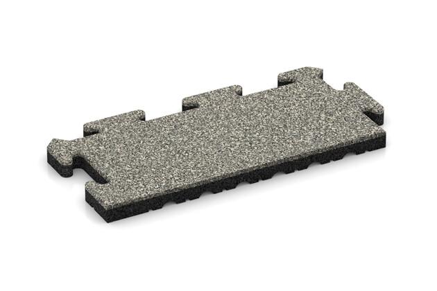 Rand-Abschlussplatte (Zuschnitt) von WARCO im Farbdesign Heller Granit mit den Abmessungen 500 x 235 x 30 mm. Produktfoto von Artikel 4858 in der Aufsicht von schräg vorne.