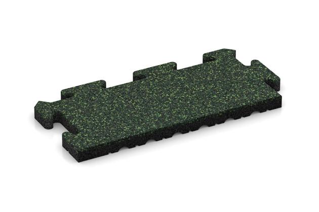 Rand-Abschlussplatte (Zuschnitt) von WARCO im Farbdesign Englischer Rasen mit den Abmessungen 500 x 235 x 30 mm. Produktfoto von Artikel 4861 in der Aufsicht von schräg vorne.