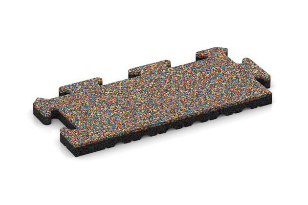 Rand-Abschlussplatte (Zuschnitt) von WARCO im Farbdesign Papagei mit den Abmessungen 500 x 235 x 30 mm. Produktfoto von Artikel 4855 in der Aufsicht von schräg vorne.