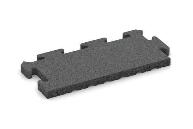 Rand-Abschlussplatte (Zuschnitt) von WARCO im Farbdesign schiefergrau mit den Abmessungen 500 x 235 x 30 mm. Produktfoto von Artikel 4921 in der Aufsicht von schräg vorne.