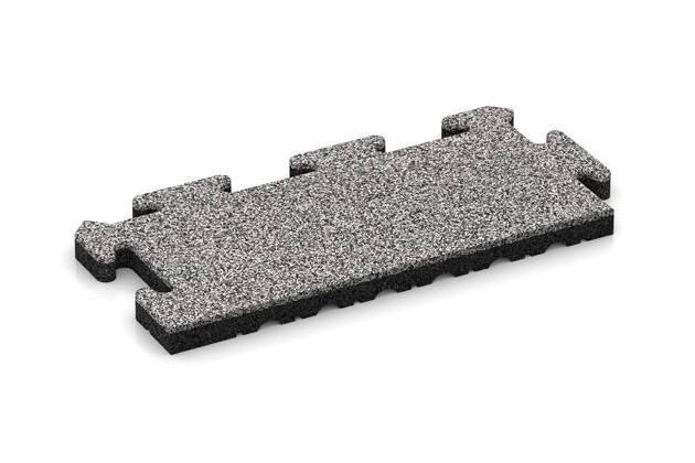 Rand-Abschlussplatte pro (Zuschnitt) von WARCO im Farbdesign Graue Melange mit den Abmessungen 500 x 235 x 30 mm. Produktfoto von Artikel 4849 in der Aufsicht von schräg vorne.
