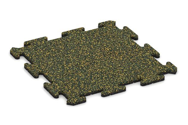 Hunde-Sportboden pro von WARCO im Farbdesign Löwenzahn mit den Abmessungen 500 x 500 x 18 mm. Produktfoto von Artikel 3908 in der Aufsicht von schräg vorne.