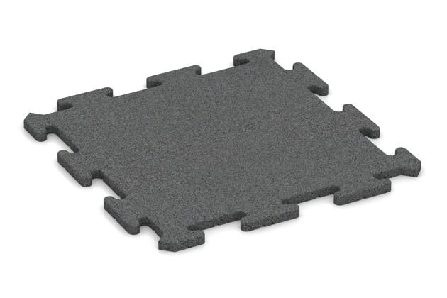 Fallschutz-Treppenbelag von WARCO im Farbdesign schiefergrau mit den Abmessungen 500 x 500 x 18 mm. Produktfoto von Artikel 0179 in der Aufsicht von schräg vorne.