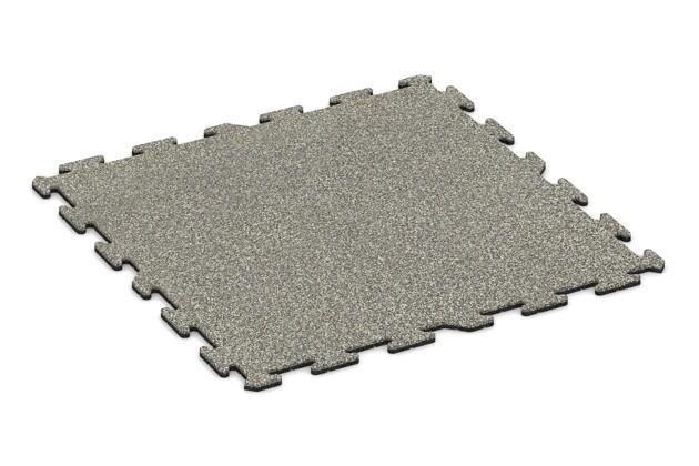 Balkonbelag von WARCO im Farbdesign Heller Granit mit den Abmessungen 1000 x 1000 x 18 mm. Produktfoto von Artikel 0260 in der Aufsicht von schräg vorne.