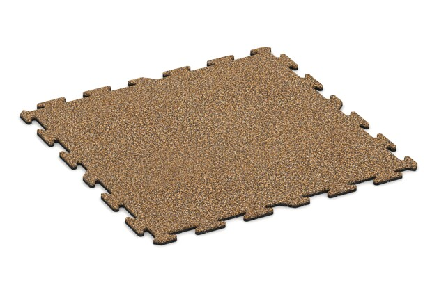 Hunde-Sportboden pro von WARCO im Farbdesign Rattan Lounge mit den Abmessungen 1000 x 1000 x 18 mm. Produktfoto von Artikel 3952 in der Aufsicht von schräg vorne.