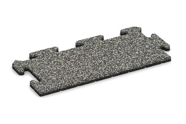 Rand-Abschlussplatte (Zuschnitt) von WARCO im Farbdesign Grauer Granit mit den Abmessungen 500 x 235 x 18 mm. Produktfoto von Artikel 4690 in der Aufsicht von schräg vorne.