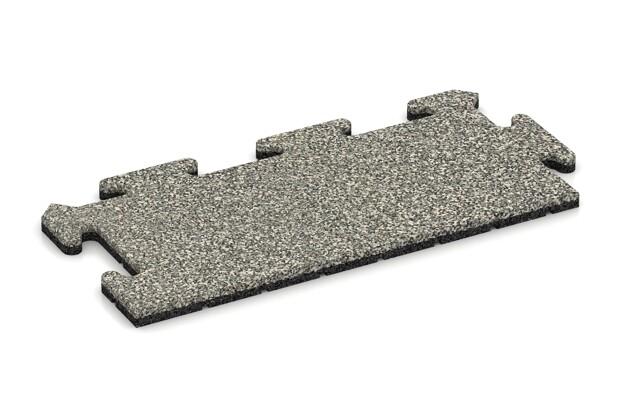 Rand-Abschlussplatte (Zuschnitt) von WARCO im Farbdesign Heller Granit mit den Abmessungen 500 x 235 x 18 mm. Produktfoto von Artikel 4691 in der Aufsicht von schräg vorne.