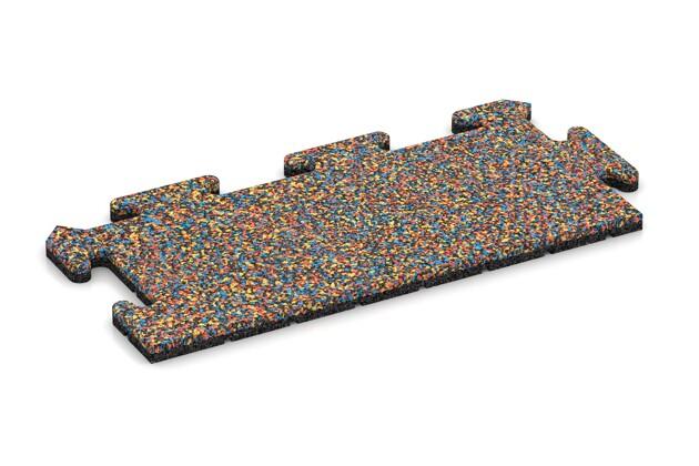 Rand-Abschlussplatte (Zuschnitt) von WARCO im Farbdesign Papagei mit den Abmessungen 500 x 235 x 18 mm. Produktfoto von Artikel 4695 in der Aufsicht von schräg vorne.
