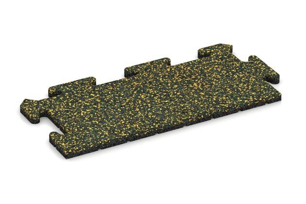 Rand-Abschlussplatte pro (Zuschnitt) von WARCO im Farbdesign Löwenzahn mit den Abmessungen 500 x 235 x 18 mm. Produktfoto von Artikel 4722 in der Aufsicht von schräg vorne.