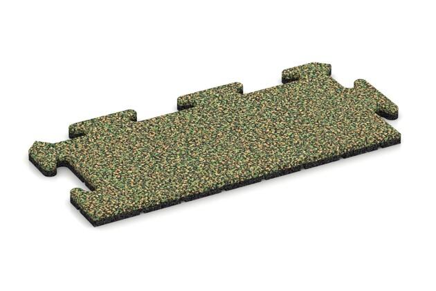 Rand-Abschlussplatte (Zuschnitt) von WARCO im Farbdesign Savanne mit den Abmessungen 500 x 235 x 18 mm. Produktfoto von Artikel 4694 in der Aufsicht von schräg vorne.