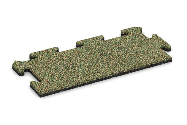 Rand-Abschlussplatte pro (Zuschnitt) von WARCO im Farbdesign Savanne mit den Abmessungen 500 x 235 x 18 mm. Produktfoto von Artikel 4719 in der Aufsicht von schräg vorne.