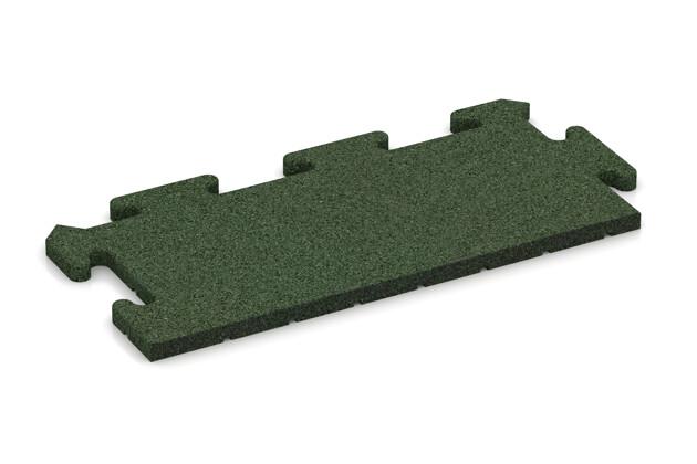 Rand-Abschlussplatte (Zuschnitt) von WARCO im Farbdesign grasgrün mit den Abmessungen 500 x 235 x 18 mm. Produktfoto von Artikel 4809 in der Aufsicht von schräg vorne.