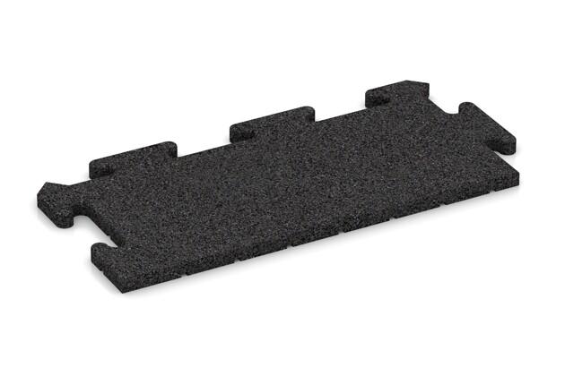 Rand-Abschlussplatte pro (Zuschnitt) von WARCO im Farbdesign Schwarz mit den Abmessungen 500 x 235 x 18 mm. Produktfoto von Artikel 4679 in der Aufsicht von schräg vorne.