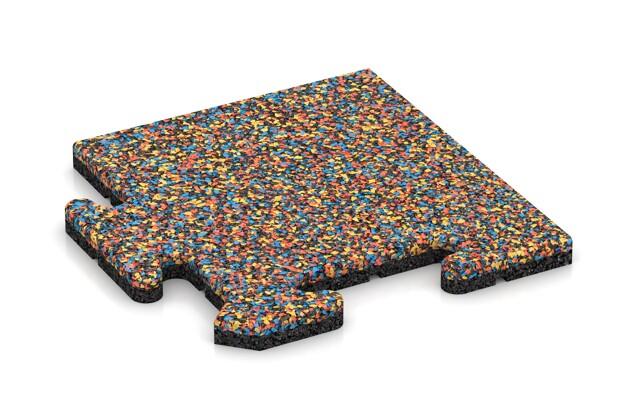 Eck-Abschlussplatte pro (4 Stück) von WARCO im Farbdesign Papagei mit den Abmessungen 235 x 235 x 18 mm. Produktfoto von Artikel 4734 in der Aufsicht von schräg vorne.