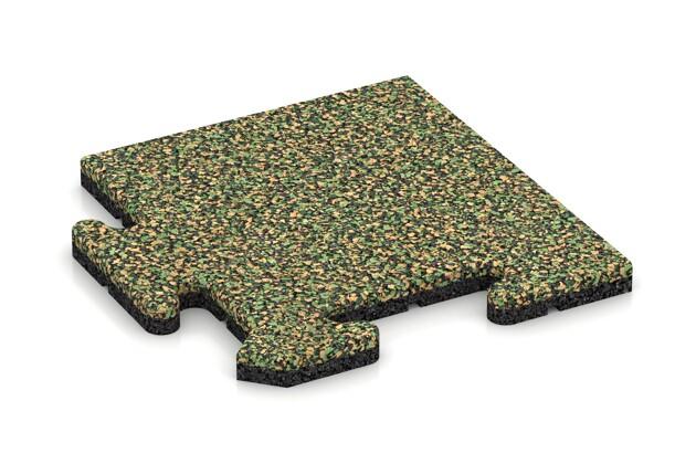 Eck-Abschlussplatte (Zuschnitt) von WARCO im Farbdesign Savanne mit den Abmessungen 235 x 235 x 18 mm. Produktfoto von Artikel 4705 in der Aufsicht von schräg vorne.