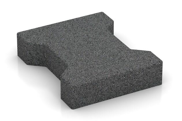 Gummi-Verbundpflaster von WARCO im Farbdesign schiefergrau mit den Abmessungen 200 x 165 x 43 mm. Produktfoto von Artikel 3606 in der Aufsicht von schräg vorne.
