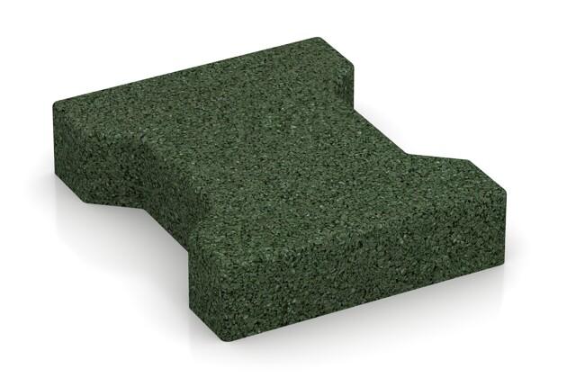 Doppel T-Verbundpflaster von WARCO im Farbdesign grasgrün mit den Abmessungen 200 x 165 x 43 mm. Produktfoto von Artikel 3624 in der Aufsicht von schräg vorne.