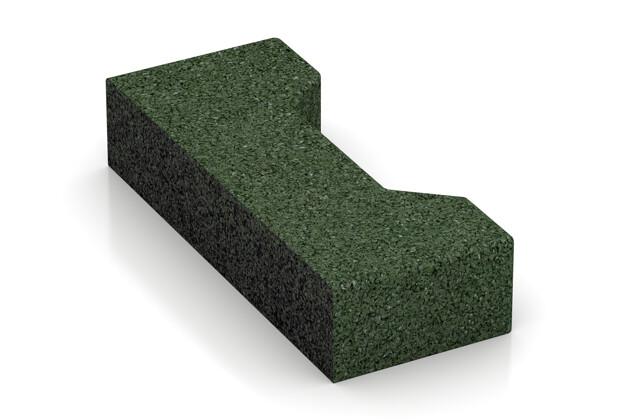 Verbundpflaster-Hälfte längs von WARCO im Farbdesign grasgrün mit den Abmessungen 200 x 82 x 43 mm. Produktfoto von Artikel 3566 in der Aufsicht von schräg vorne.