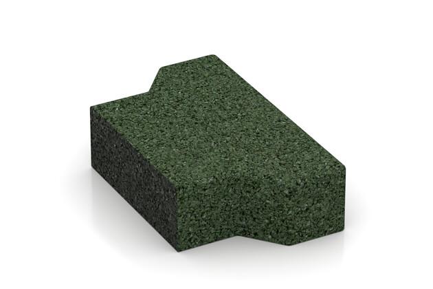 Verbundpflaster-Hälfte quer von WARCO im Farbdesign grasgrün mit den Abmessungen 100 x 165 x 43 mm. Produktfoto von Artikel 3560 in der Aufsicht von schräg vorne.