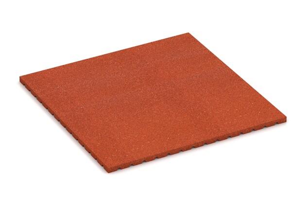 Stallmatte light von WARCO im Farbdesign ziegelrot mit den Abmessungen 1000 x 1000 x 30 mm. Produktfoto von Artikel 3646 in der Aufsicht von schräg vorne.