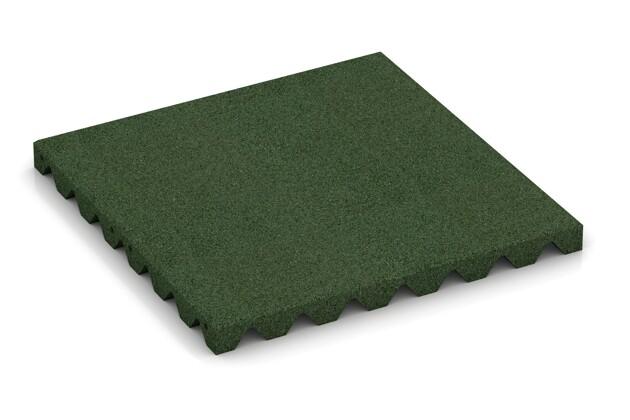 Wandschutzplatte von WARCO im Farbdesign grasgrün mit den Abmessungen 500 x 500 x 40 mm. Produktfoto von Artikel 0618 in der Aufsicht von schräg vorne.