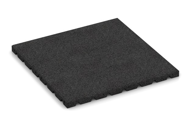 Fitness-Boden von WARCO im Farbdesign anthrazit mit den Abmessungen 500 x 500 x 30 mm. Produktfoto von Artikel 3971 in der Aufsicht von schräg vorne.