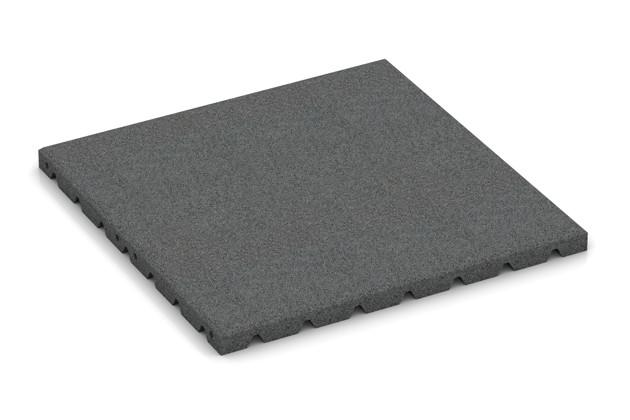 Fitness-Boden von WARCO im Farbdesign schiefergrau mit den Abmessungen 500 x 500 x 30 mm. Produktfoto von Artikel 3974 in der Aufsicht von schräg vorne.
