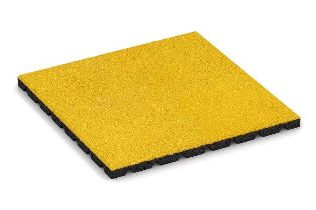 Terrassenfliese von WARCO im Farbdesign Zitronengelb mit den Abmessungen 500 x 500 x 30 mm. Produktfoto von Artikel 0558 in der Aufsicht von schräg vorne.