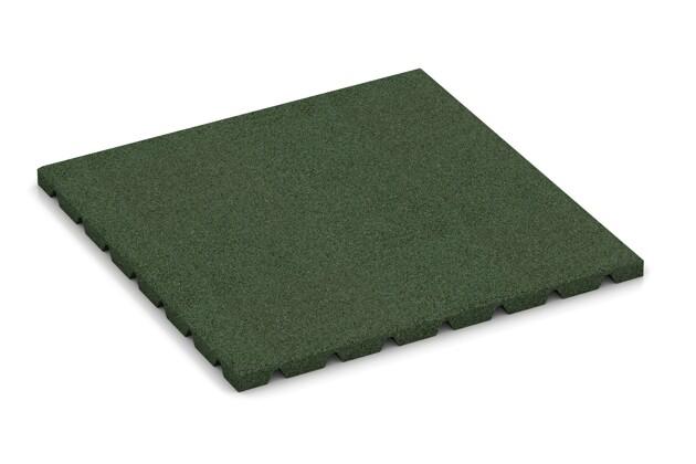 Wandschutzplatte von WARCO im Farbdesign grasgrün mit den Abmessungen 500 x 500 x 25 mm. Produktfoto von Artikel 0528 in der Aufsicht von schräg vorne.