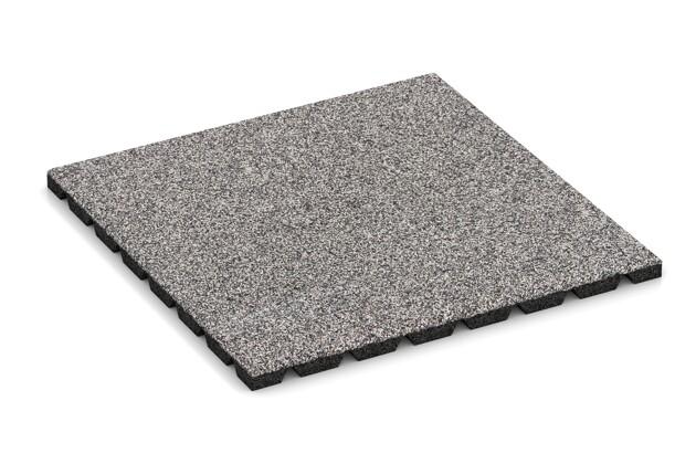 Materialmuster von WARCO im Farbdesign Graue Melange mit den Abmessungen 500 x 500 x 25 mm. Produktfoto von Artikel 4530 in der Aufsicht von schräg vorne.