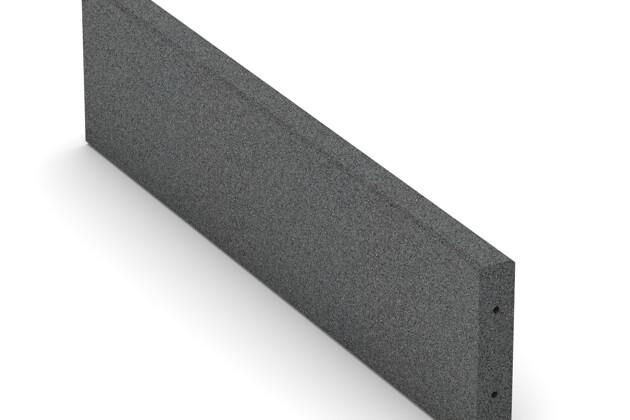 Gummi-Randstein (Tiefbord) von WARCO im Farbdesign schiefergrau mit den Abmessungen 1000 x 250 x 50 mm. Produktfoto von Artikel 2595 in der Aufsicht von schräg vorne.