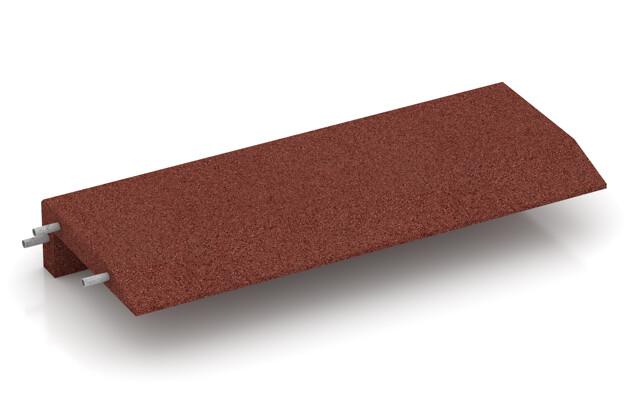Gummi-Mauerabdeckung von WARCO im Farbdesign ziegelrot mit den Abmessungen 1000 x 400 x 150 x 50 mm. Produktfoto von Artikel 2606 in der Aufsicht von schräg vorne.