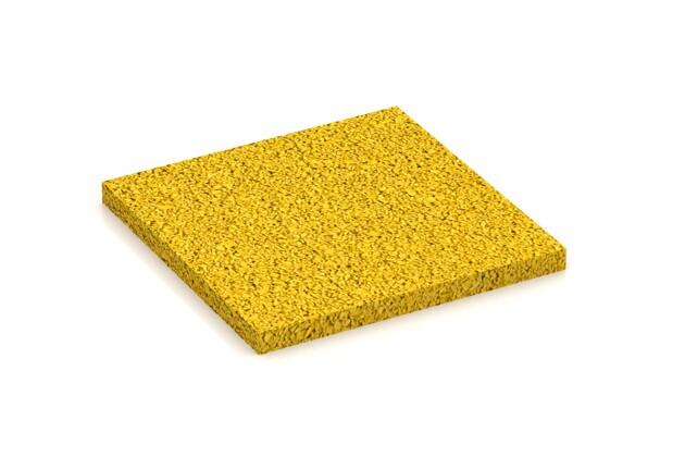Farbmuster von WARCO im Farbdesign Zitronengelb mit den Abmessungen 100 x 100 x 7 mm. Produktfoto von Artikel 4343 in der Aufsicht von schräg vorne.