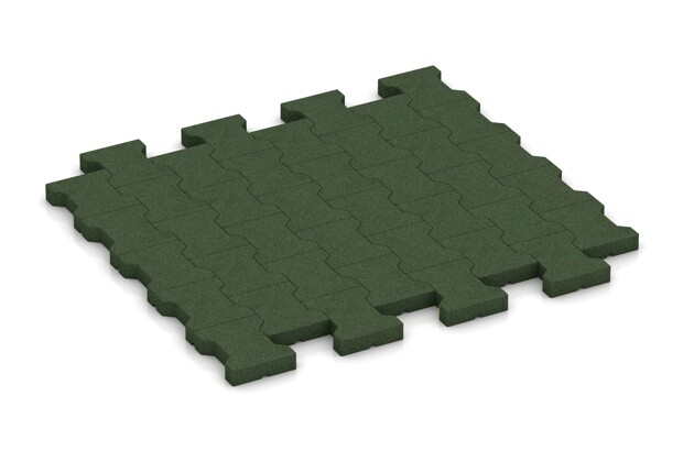 Gehweg-Pflastermatte von WARCO im Farbdesign grasgrün mit den Abmessungen 1120 x 1000 x 43 mm. Produktfoto von Artikel 3553 in der Aufsicht von schräg vorne.
