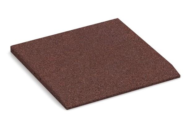 Rand-Platte (eine Seite abgeschrägt) von WARCO im Farbdesign schokobraun mit den Abmessungen 500 x 500 x 30 mm. Produktfoto von Artikel 0421 in der Aufsicht von schräg vorne.