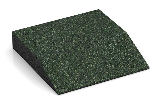 Rand-Platte (eine Seite abgeschrägt) von WARCO im Farbdesign Englischer Rasen mit den Abmessungen 500 x 500 x 100 mm. Produktfoto von Artikel 3812 in der Aufsicht von schräg vorne.
