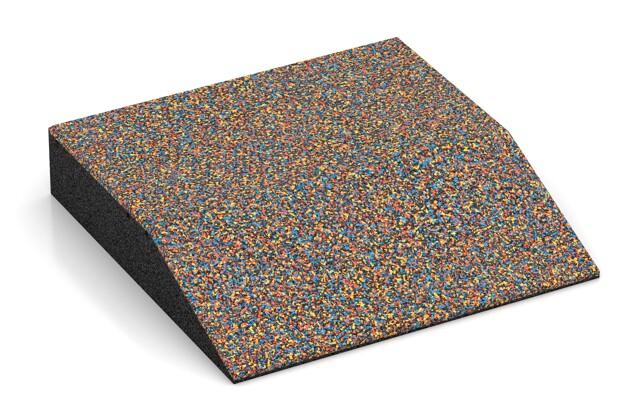 Rand-Platte (eine Seite abgeschrägt) von WARCO im Farbdesign Papagei mit den Abmessungen 500 x 500 x 100 mm. Produktfoto von Artikel 3808 in der Aufsicht von schräg vorne.