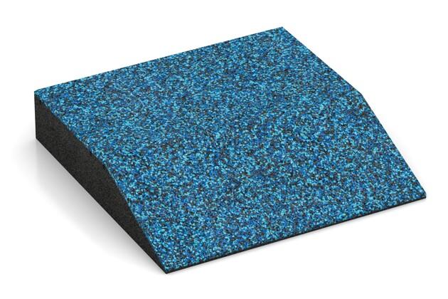 Rand-Platte (eine Seite abgeschrägt) von WARCO im Farbdesign Atlantik mit den Abmessungen 500 x 500 x 100 mm. Produktfoto von Artikel 3821 in der Aufsicht von schräg vorne.